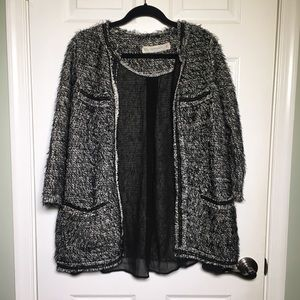 Zara Knit Open Front Cardigan